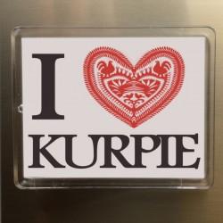 magnes akrylowy I love Kurpie