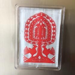 magnes akrylowy leluja czerwona