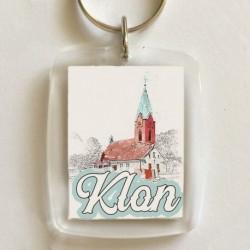 brelok kościół Klon