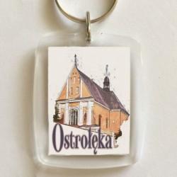 brelok kościół Ostrołęka
