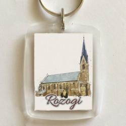 brelok kościół Rozogi