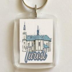 brelok kościół Turośl