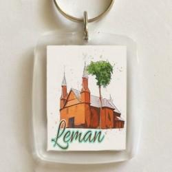 brelok Leman kościół akwarela