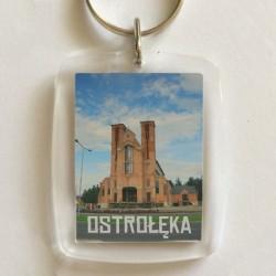 brelok Ostrołęka kościół (front)
