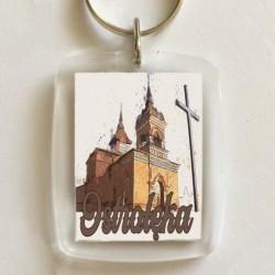 brelok Ostrołęka kościół św Wojciecha