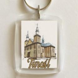 brelok Turośl kościół