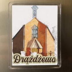 magnes Drążdżewo kościół akwarela