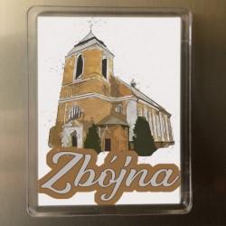 magnes kościół Zbójna akwarela