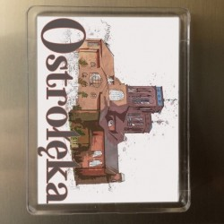 magnes Ostrołęka Kościół Zbawiciela Świata akwarela