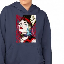 bluza z kapturem KK-GR sKURPieni Harley Quinn