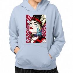 bluza z kapturem KK-JN sKURPieni Harley Quinn