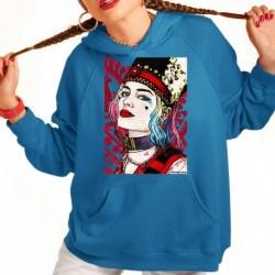 bluza z kapturem KK-N sKURPieni Harley Quinn