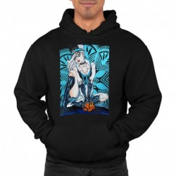 bluza z kapturem KM-CZ sKURPieni Black Cat
