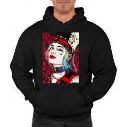 bluza z kapturem KM-CZ sKURPieni Harley Quinn