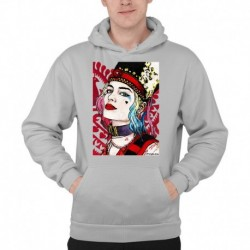bluza z kapturem KM-SZ sKURPieni Harley Quinn